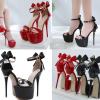 รองเท้าส้นสูงส้นเข็มสีแดง/ดำ ไซต์ 34-40