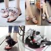 รองเท้าส้นเตี้ย ไซต์ 35-39 สีเทา/ดำ