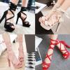 รองเท้าส้นสูงสีหวานชมพู/แดง/ดำ/ครีม ไซต์ 34-40