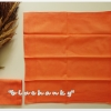 ผ้าเช็ดหน้าสีพื้น สีส้ม