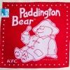 """#311 22"""" Paddington Bear KFC ผ้าเช็ดหน้ามือ2 สภาพดี ผ้าเช็ดหน้าผืนใหญ่"""