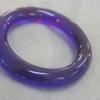 กำไลข้อมืออำพันบอนติกทรงท้องปลิงสีม่วงน้ำเงิน ( Violet Amber)