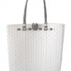 ตะกร้าสานพลาสติก กระเป๋าสานพลาสติก AU - สายน้ำตาล กว้าง 10 cm. ยาว 36cm. สูง 32 cm.