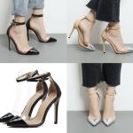 รองเท้าส้นสูง ไซต์ 35-40 สีดำ/ครีม
