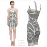 HV0904 / Preorder Herve Leger Dress Style พรีออเดอร์เดรสไตล์ Hervr Leger เดรสผ้ายืด ใส่สวยเน้นรูปร่าง แบบเก๋ทันสมัย สไตล์ดาราและเซเลบกำลัง HOT HIT