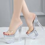 รองเท้าส้นสูงแก้วใส ไซต์ 34-38