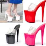รองเท้าส้นสูง ไซต์ 34-44 สีดำ/แดง/ขาว/ชมพู