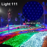 ไฟตาข่าย LED ขนาดใหญ่ 3x3 m สีฟ้า (กระพริบ)