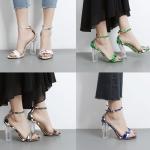 รองเท้าส้นสูง ไซต์ 35-40 สีขาว/ดำ/เขียว/น้ำเงิน