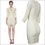 HV0928 / Preorder Herve Leger Dress Style พรีออเดอร์เดรสไตล์ Hervr Leger เดรสผ้ายืด ใส่สวยเน้นรูปร่าง แบบเก๋ทันสมัย สไตล์ดาราและเซเลบกำลัง HOT HI