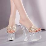รองเท้าส้นแก้วใส ไซต์ 34-39