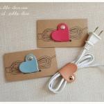 หนังรัดสายไฟ mini heart