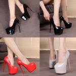 รองเท้าส้นสูง ไซต์ 34-39 สีดำ สีแดง สีเทา