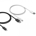 (Pack x 2) Tronsmart USB-C to USB-A Cable (1m) 56k ohm pull-up resistor for ChromeBook Pixel, Nexus 5X, Nexus 6P and More (1 x Black, 1 x White)