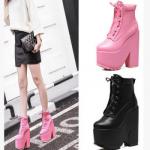รองเท้าบูท ไซต์ 34-39 สีดำ สีชมพู