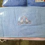 ผ้าขนหนู Cotton100% ผ้าเช็ดตัว ปักหวาน 7ปอนด์ คละสี 24*48นิ้ว โหลละ 990บาท ส่ง 10โหล