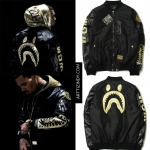 Jacket Bomber Bape x Chris Brown Collab ma-1 -ระบุไซต์-