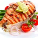 สเต็กปลาแซลมอนริมทาง แพ็คละ