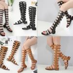 รองเท้าส้นเตี้ยชิลๆ สีดำ/น้ำตาล ไซต์ 35-40