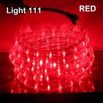ไฟสายยาง LED (ท่อกลม) 10 m. สีแดง