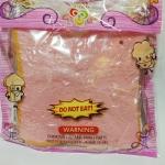 ** พร้อมส่ง ** ขนมปังแผ่นสีชมพู นุ่ม สโลว์มาก ขนาด 10 ซม.