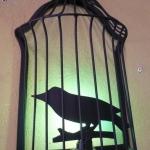 โคมไฟตกแต่งติดผนังรูปกรงนก