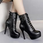 รองเท้าบูทห้มข้อสีดำ ไซต์ 34-39