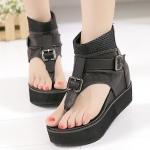 รองเท้าส้นเตารีด ไซต์ 35-40 สีดำ สีน้ำตาล (รองเ้าส้นตึก)