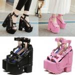 รองเท้าส้นเตารีด ไซต์ 34-39 สีดำ สีชมพู