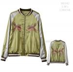SKJ042 / S M L / พรีออเดอร์ เสื้อแจคเก็ตซิปหน้า งานปักลายแฟชั่นสไตล์ SUKAJAN