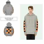 Hoodie Off-White c/o Virgil Abloh Checkers Grey/Orange -ระบุไซต์-