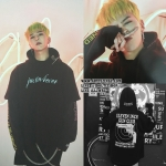 Hoodie Vetements Black Justin Forever Double Sleeve Sty.GD -ระบุไซต์-