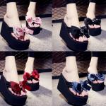 รองเท้าส้นสูงฟองน้ำสีแดง ดำ น้ำเงิน เทา ชมพู ไซต์ 34-41