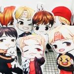 หมอนการ์ตูน BTS -ระบุสมาชิก-