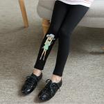 กางเกง รูปเด็กผู้หญิง สีดำ (มีขนกำมะหยี่ด้านใน) แพ็ค 1 ชุด ไซส์ 160