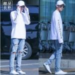 เสื้อแขนยาว VETEMENTS WHITE Sty.KRIS EXO -ระบุไซต์-