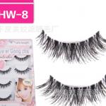 HW-8 ขนตาเอ็นใส (ขายปลีก) เเพ็คละ 5 คู่