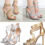 รองเท้าส้นสูง ไซต์ 35-40 สีทอง สีเงิน