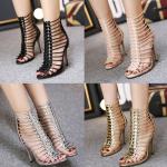 รองเท้าส้นสูง ไซต์ 35-40 สีดำ/ครีม/เงิน/ทอง