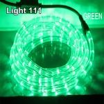ไฟสายยาง LED (ท่อกลม) 10 m. สีเขียว