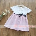 ชุดกระโปรง สีชมพู แพ็ค 5 ชุด ไซส์ 100-110-120-130-140