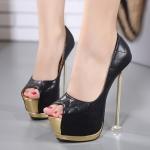 รองเท้าส้นสูง ไซต์ 34-40 สีดำ สีขาว