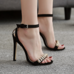 รองเท้าส้นสูงสีดำแบบหรู ไซต์ 35-40