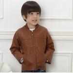 เสื้อแจ็คเก็ตหนัง สีน้ำตาล (ลาย6244) แพ็ค 4 ชุด ไซส์ 7-11-13-15