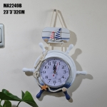 นาฬิกาแขวนหางเสือ Marine Art ขนาด 23*3*32 ซม.<ไม่รวมแบตเตอรี่>