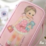 กระเป๋าใส่เครื่องสำอาง Paper Doll Mate make up pouch (พรีออเดอร์)