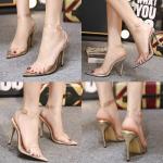 รองเท้าส้นสูง ไซต์ 35-40 สีพื้นทอง/เงิน/นู๊ด