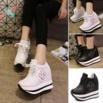 รองเท้าผ้าใบเสริมส้น ไซต์ 35-39 สีขาว,ดำ