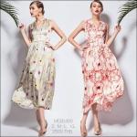 M580489 / S M L XL / 2015 Fashion dress พรีออเดอร์เดรสแฟชั่นงานเกรดยุโรป สวยดูดีมีสไตล์ นางแบบใส่ชุดจริง เป๊ะเว่อร์!