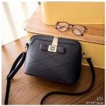 J25-กระเป๋าสะพายติดโบว์- สีดำ